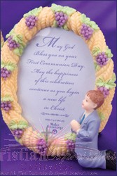 Wheat and Grapes Boys First Communion Picture Frame
