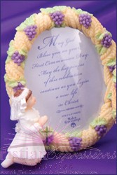 Wheat and Grapes Girls First Communion Picture Frame