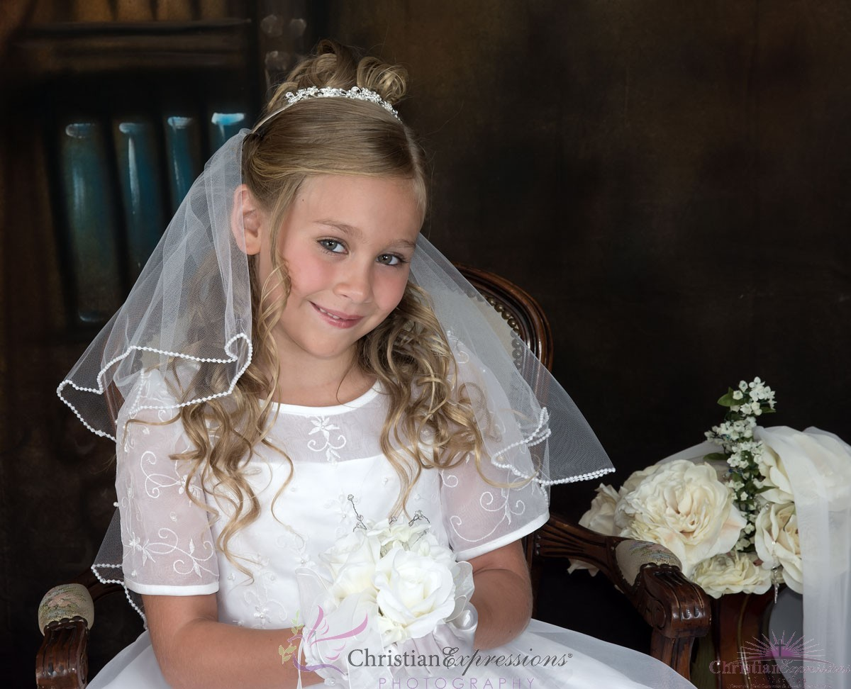 Silver First Communion Tiara Crown