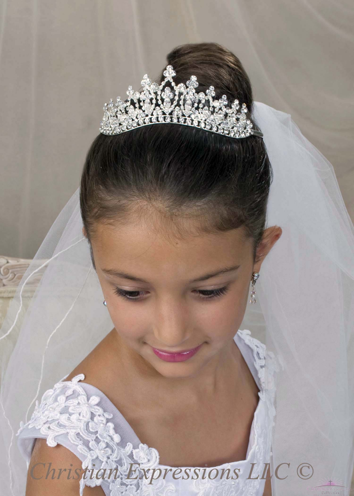 First Communion Tiara Crown Style Kaylee
