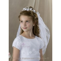First Communion Bun Wrap Veil Style Sienna