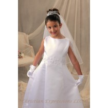 First Communion Bun Wrap Tiara Style Juliette
