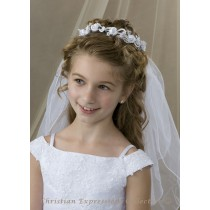 Wreath Style First Communion Veil