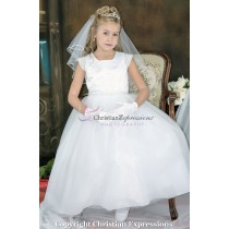 First Communion Dresses Cap Sleeves Pearls Size 10