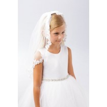 Floral Trim First Holy Communion Veil