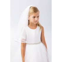 Satin Trim First Communion Veil