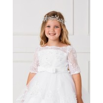 Silver First Communion Floral Spray Hair Acccessories