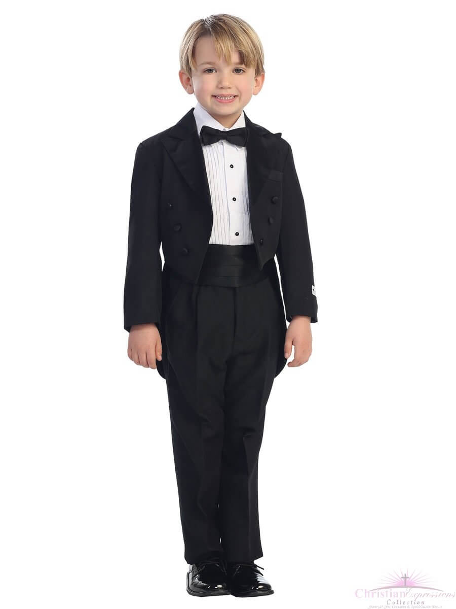Boys First Communion Tailed Tuxedo Set