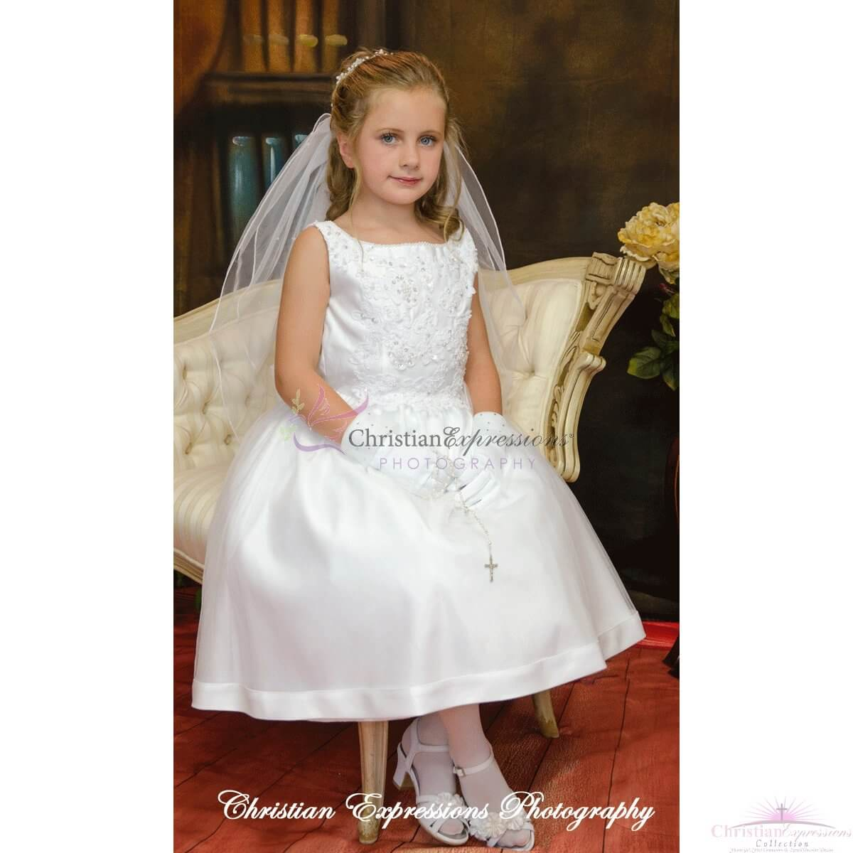 Sleeveless First Communion Dresses | Plus Size First ...