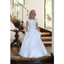 A Line Satin First Communion Dress