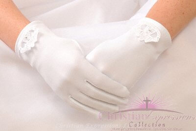 First Communion Gloves Irish Claddagh