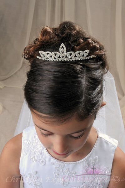 First Communion Tiara Crown Style Felicia