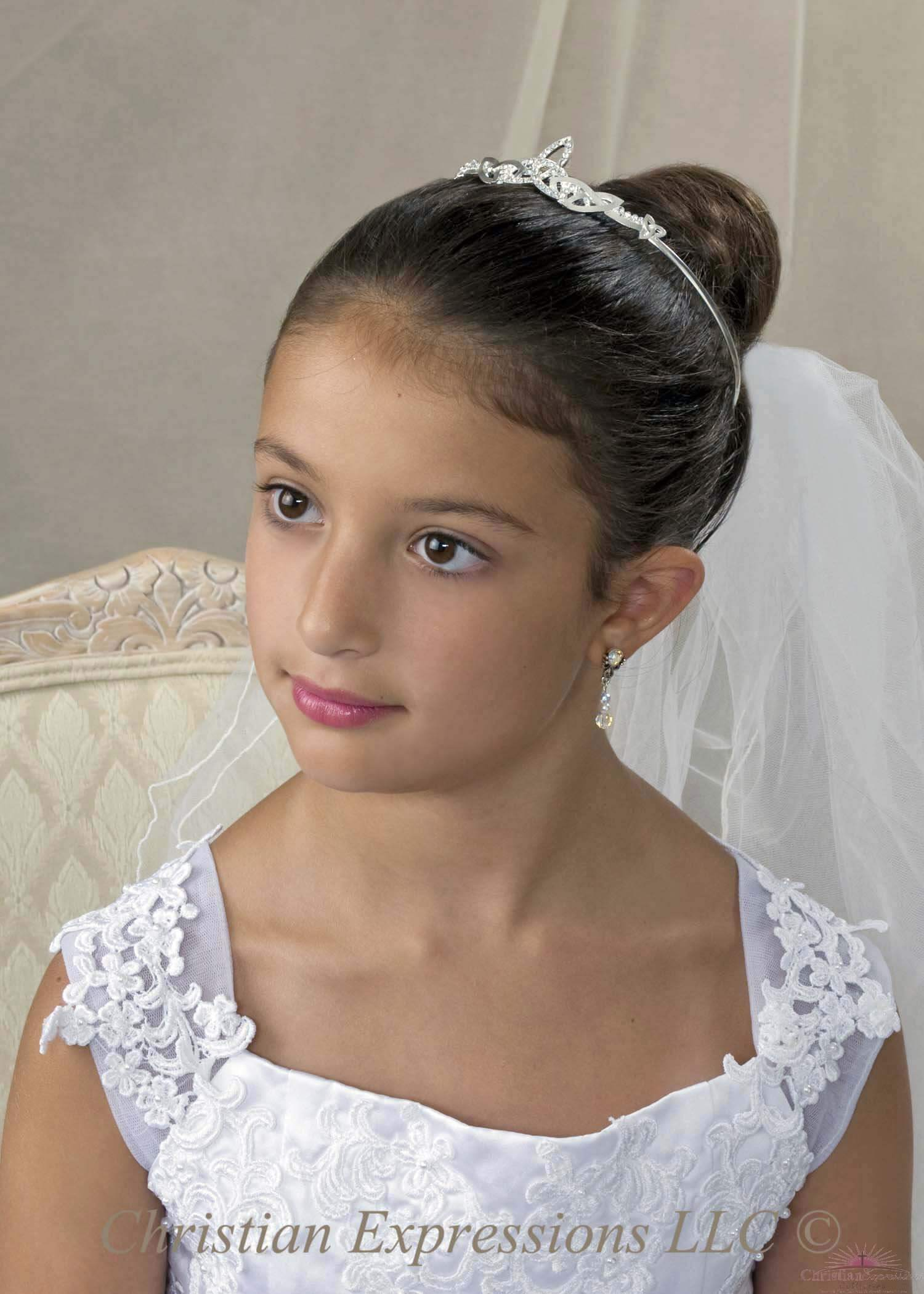 First Communion Tiara Crown Irish Celtic Knot