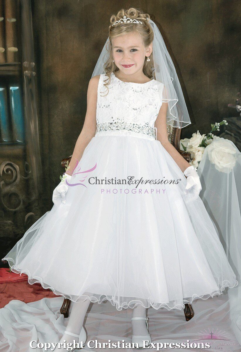 Lace and Sequins First Communion Dress