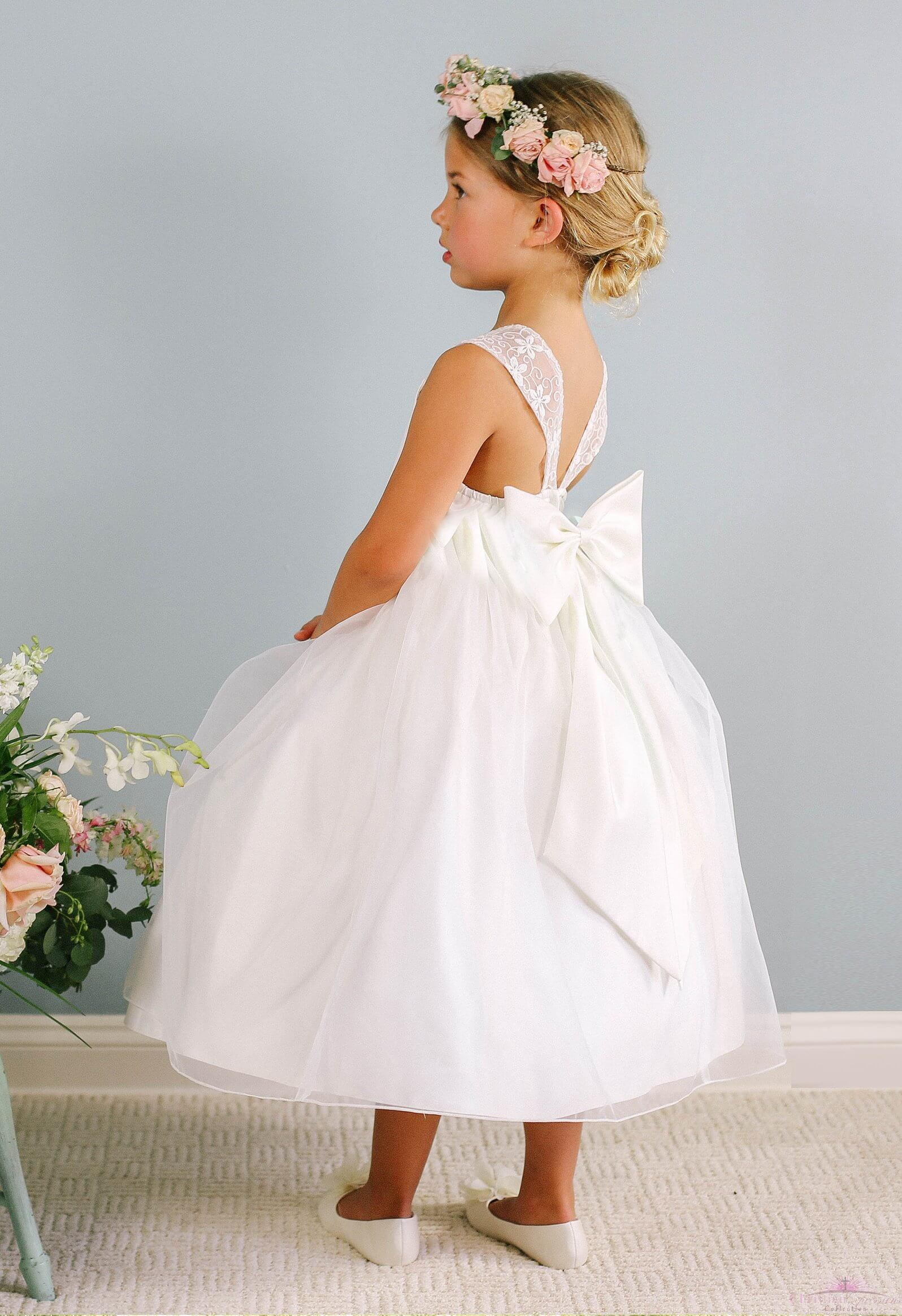 First Communion Dress Ava back