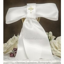 Boys first communion Arm band with Gold Cross Made in the USA