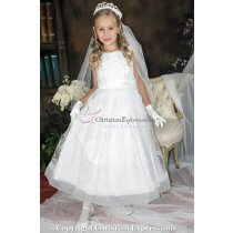 lace and rhinestone first communion dress 16