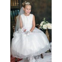 mesh bodice first communion dress 11