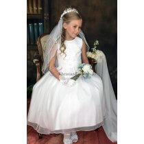 Traditional Tea Length First Communion Dress