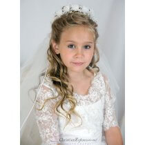 First Communion Floral Wreath Veil