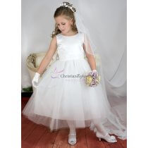 Satin and tulle Sequined First Communion Dress
