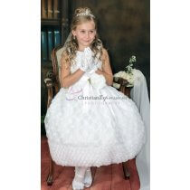 Girls tulle embroidered  first communion dress