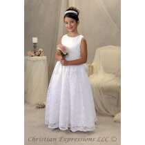 Satin and Lace First Communion Gowns