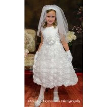 girls chiffon first holy communion dress