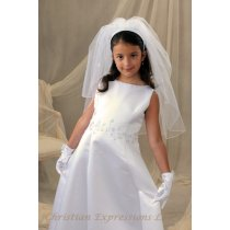 First Communion Irish Shamrock Headband Veil