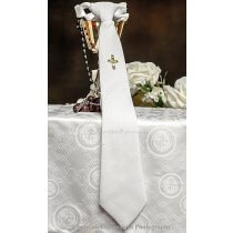 Boys First Communion Tie with Gold Cross