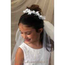 First Communion Wreath Veil Style Krista