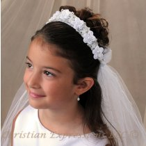 First Communion Wreath Veil Style Lisa