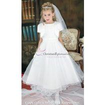 Modern First Communion Dress with Bolero Jacket