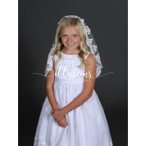 First Communion Floral Lace Mantilla