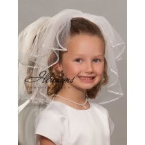 First Communion Veil with Rhinestones