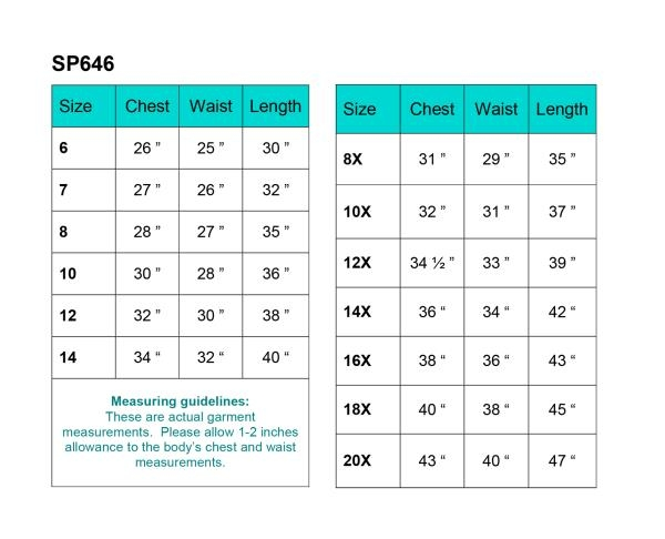 First Communion Dress Size Chart