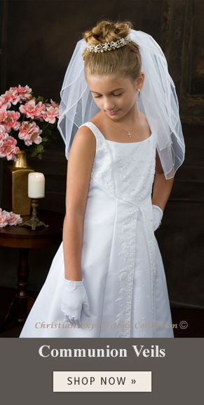first communion dresses - first communion veils